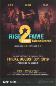 Rise 2 Fame Talent Search Poster